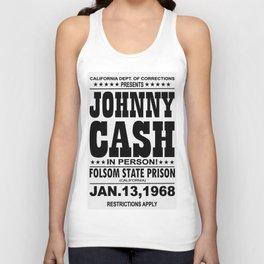 1968 Folsom State Prison Johnny Cash Vintage Tour Poster Unisex Tank Top