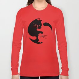 Cat ying yang Long Sleeve T-shirt