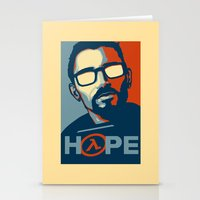 half life Stationery Cards featuring Half Life Hope by The Strynx