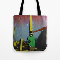 mike wrobel Tote Bags featuring Mike by jnk2007
