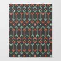 arrow Canvas Prints featuring Arrow by Priscila Peress