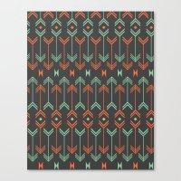 arrow Canvas Prints featuring Arrow by Priscila Peress