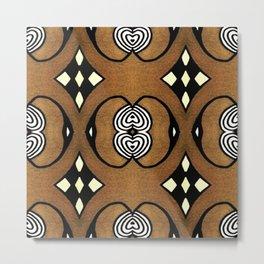 Cocoa Brown Metal Print