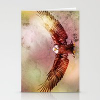 eagle Stationery Cards featuring Eagle by ron ashkenazi