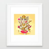 ganesh Framed Art Prints featuring Ganesh by Danilo Sanino