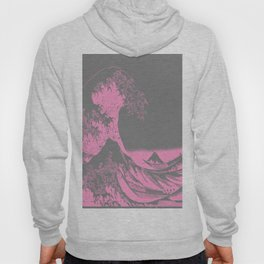 The Great Wave Pink & Gray Hoody