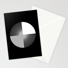 Abstraction 028 - Minimal Geometric Triangle Stationery Cards