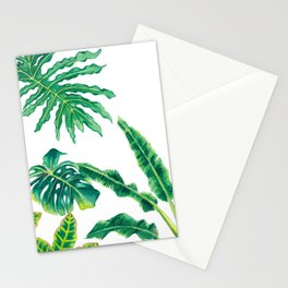 Tropical House Plants Stationery Cards