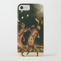 boxing iPhone & iPod Cases featuring Boxing Rabbits by Erin Mulligan
