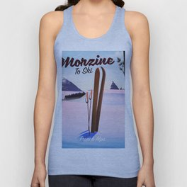 Morzine,French Alps, Ski poster Unisex Tank Top