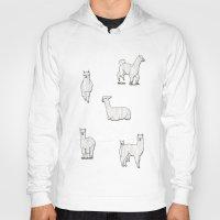 alpaca Hoodies featuring Alpaca by okayleigh