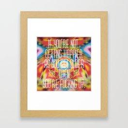 Content Framed Art Print