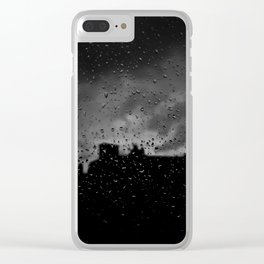 Rainy Day in Brussels Clear iPhone Case
