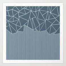 Ab Lines Blues Art Print