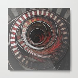 Beautiful Striped Fractal Circles, the Thousand and One Rings of the Circus Metal Print