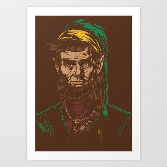 Abraham LINKoln Art Print