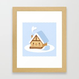 Cute alpine chalet Framed Art Print