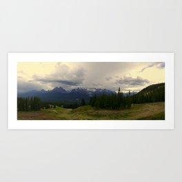 Banff Mountains Art Print