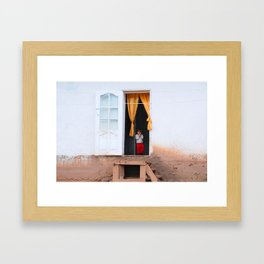 Tajikistan Girl Framed Art Print