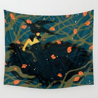 witch Wall Tapestries featuring Witch by Shaina Anderson