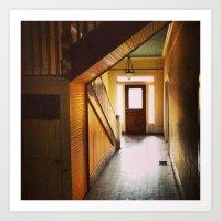 Sunny Hallway Art Print