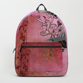 Cute fairy dancing on a piano Backpack