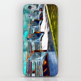 Flood Gates of Binary River iPhone Skin