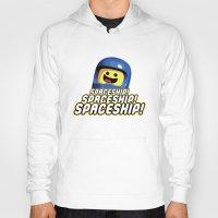 spaceship Hoodies featuring Spaceship! by D-fens