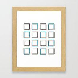 Impossible shapes alternating pattern. Framed Art Print