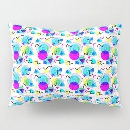 Bold Popping Colorful Retro Memphis Pattern Pillow Sham