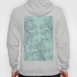 lily drawing in green background Hoody