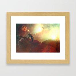 space goats Framed Art Print