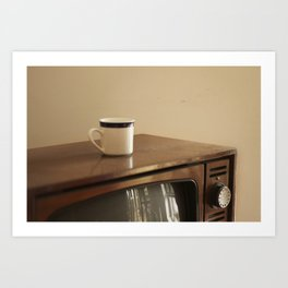 Vintage Mug and TV Art Print