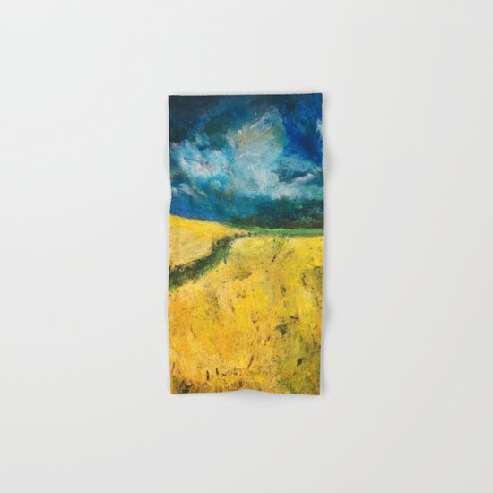 Yellow Fields Hand & Bath Towel