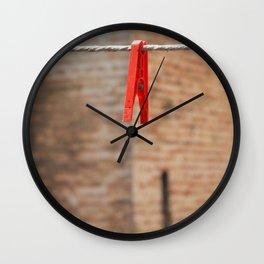 Hangin' On! Wall Clock