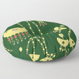 Traditional jewelery green Floor Pillow