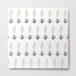 Flora Mosaic Metal Print