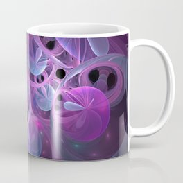 Luminous Abstract Fractal Art Pink And Blue Coffee Mug