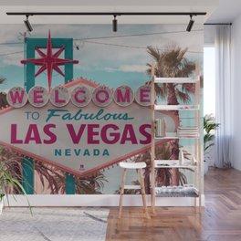The Fabulous Las Vegas Sign, Retro Vintage Fine Art Photography Wall Mural
