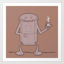 Coffee Robot Art Print
