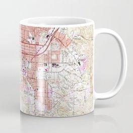 Vintage Map of El Cajon California (1967) Coffee Mug