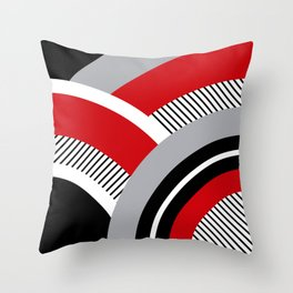 Colorful geometry 12 Throw Pillow