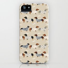 Dachshund doxie sweaters cute dog gifts dog breed dachsie owners must haves iPhone Case