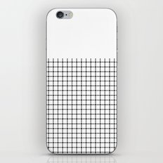 Dotted Grid Black on White Boarder iPhone Skin