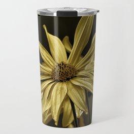 golden colored echinacea Travel Mug