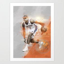 Carmelo Anthony Poster - NY Knicks edition Art Print