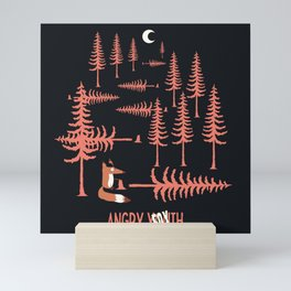 Angry Fox Mini Art Print