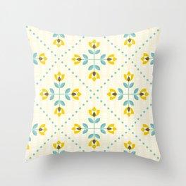 Scandinavian flowers 02 Throw Pillow