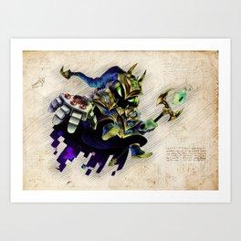 Battle Boss Veigar skin da vinci style artwork Art Print
