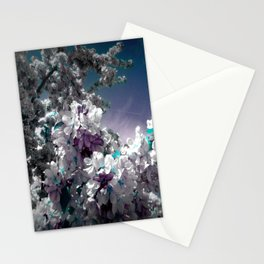 Flowers Purple & Teal Stationery Cards